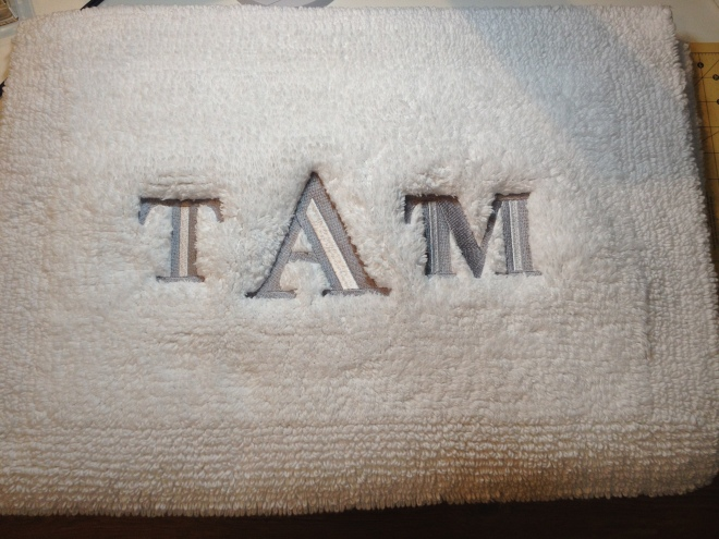 Embroidered Bath Mat
