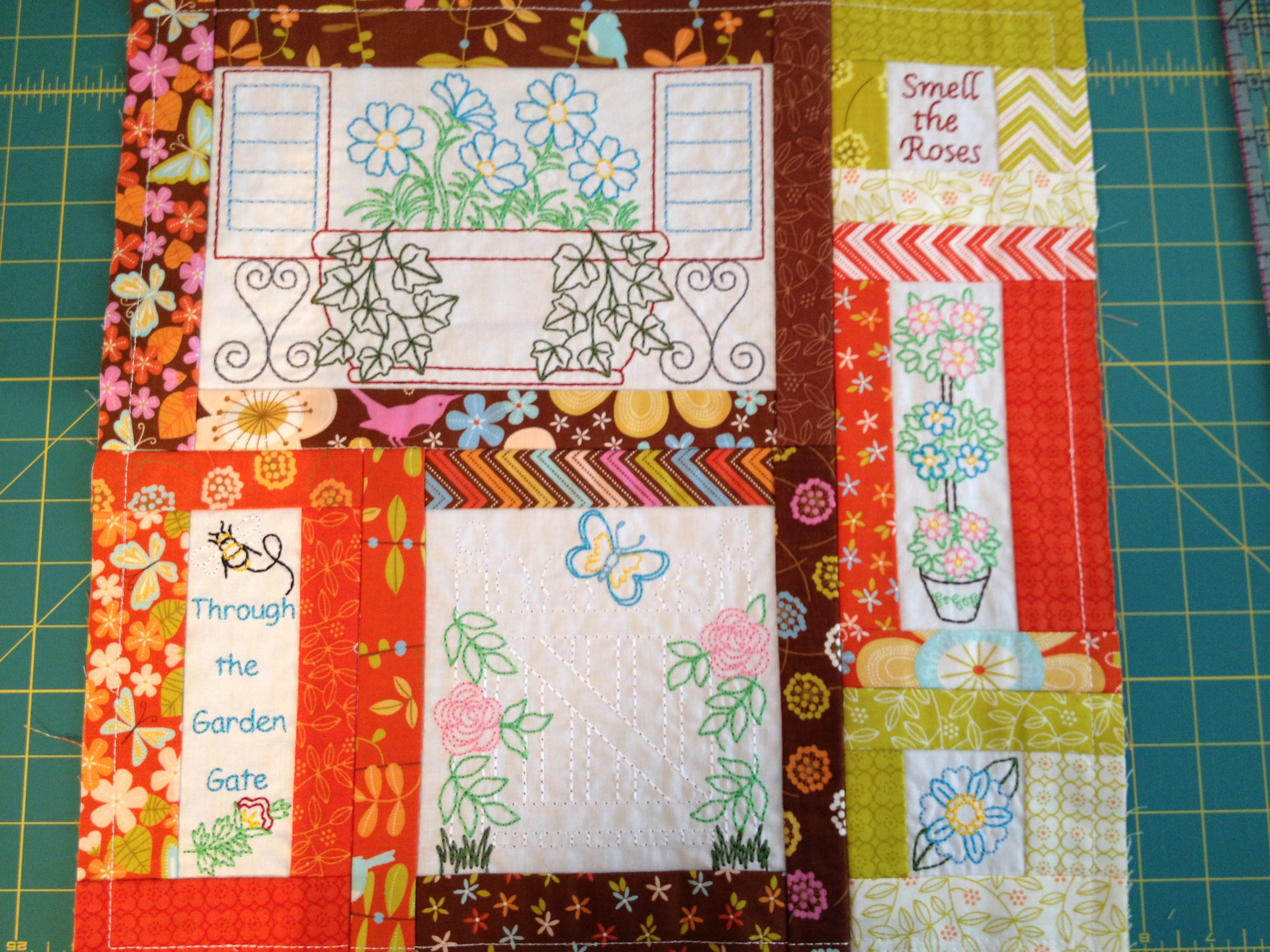 Prayer Garden Quilt by Anita Goodesign