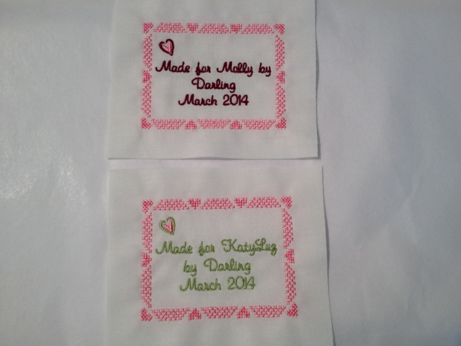 Want to design your own quilt label?
