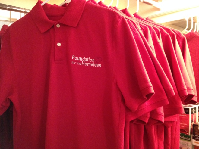 Foundation for the Homeless polos for golf marathon